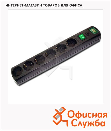 Сетевой фильтр Most RG 6 розеток, черный, 2м