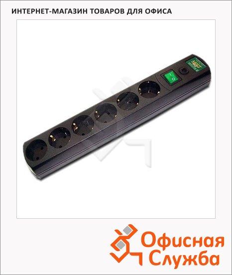 Сетевой фильтр Most RG 6 розеток, черный, 5м