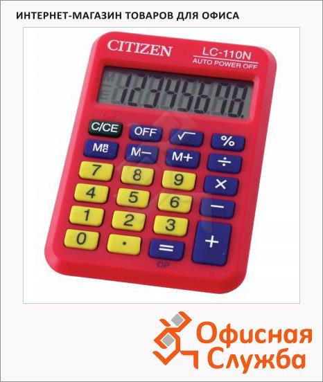 Калькулятор карманный Citizen LC-110NRD красный, 8 разрядов