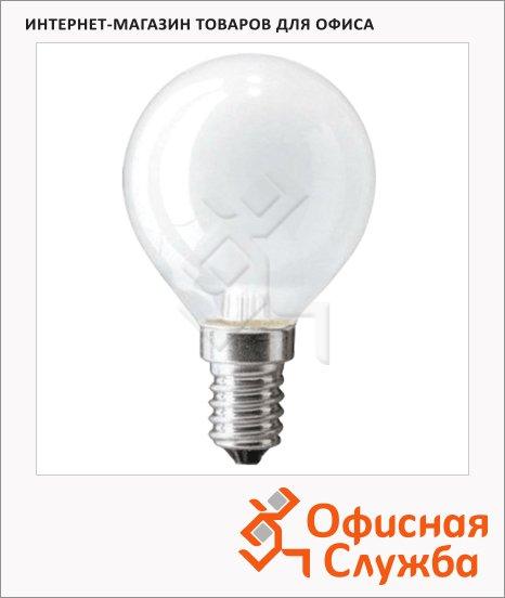 фото: Лампа накаливания Philips P45 FR 40Вт 2700К, теплый белый свет, шар, E14