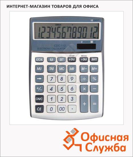Калькулятор настольный Citizen CDC-112WB серый, 12 разрядов