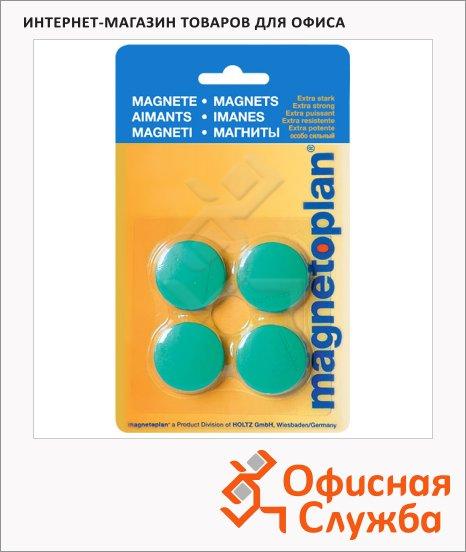 Магниты Magnetoplan Standart d=30х8мм, 4шт/уп, зеленые