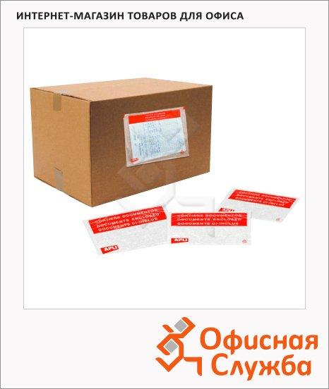 фото: Карман для документов самоклеющийся почтовый Apli 1468 240х180 мм, 100шт