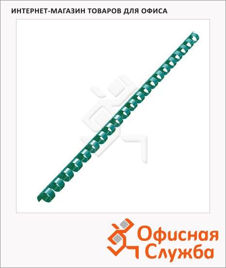 Пружины для переплета пластиковые Office Kit зеленые, на 40-70 листов, 10мм, 100шт, кольцо, BP2025