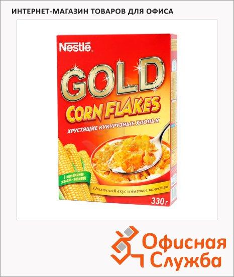 фото: Готовый завтрак Nestle Gold Corn Flakes кукурузные хлопья 330г