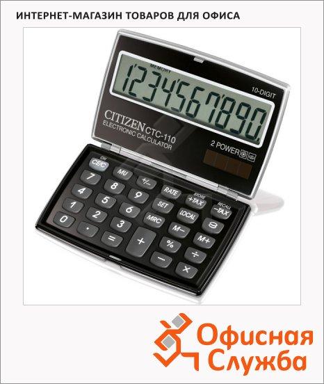 фото: Калькулятор карманный Citizen CTC110 черный 10 разрядов