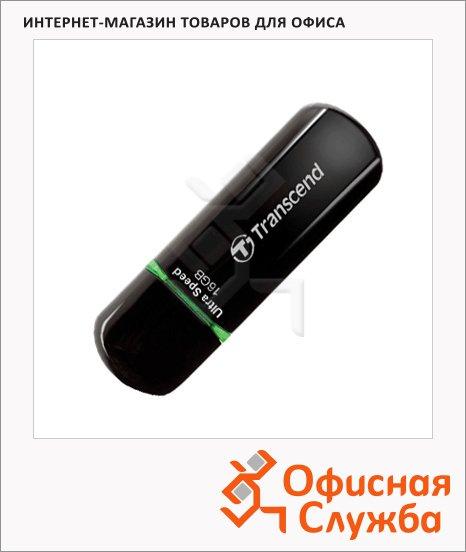 Флеш-накопитель Transcend JetFlash 600, 16Gb, 32/18 мб/с, черно-зеленый