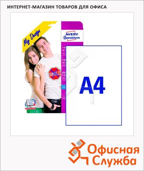 Пленка для ткани Avery Zweckform MD1001, белая, 210x297мм, 5 листов, А4, для струйной печати