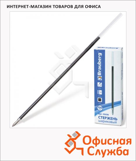 фото: Стержень для шариковой ручки Brauberg черный 0.5 мм, 140 мм