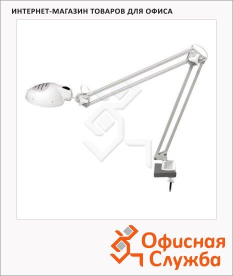 Светильник настольный Трансвит Гамма 1 белый, на струбцине, галогеновый