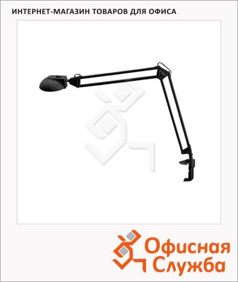 фото: Светильник настольный Трансвит Гамма 1 черный на струбцине, галогеновый