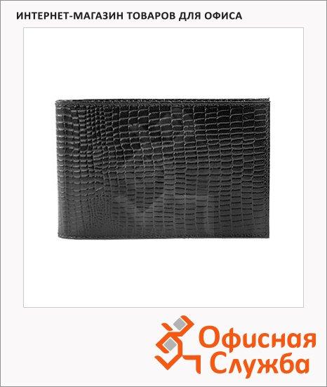 фото: Визитница Ящерица на 40 визиток черная, 110x70мм