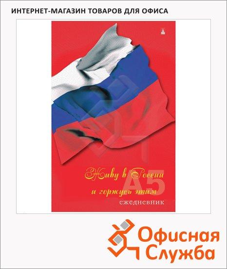 Ежедневник недатированный Альт триколор, А5, 128 листов,  флаг