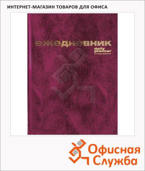 Ежедневник недатированный Attache бордовый, А5, 128 листов