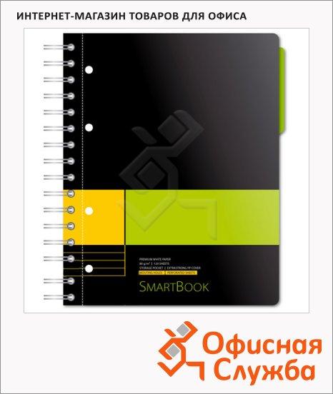 Тетрадь Smartbook желто-зеленая, А5, 120 листов, на спирали, пластик, в линейку