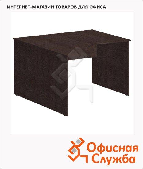 фото: Стол письменный Simple легно темный эргономичный, левый, 1400х900х760мм