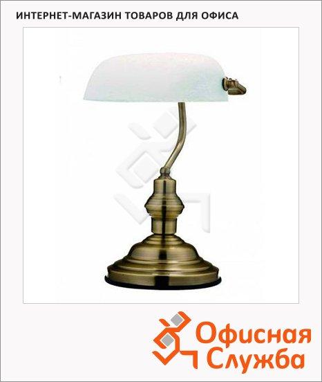 фото: Светильник настольный 2491 белый на подставке, накаливания/энергосберегающая