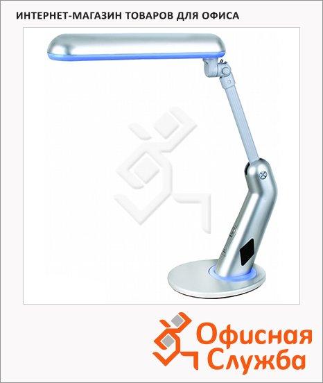 Светильник настольный Camelion KD-050 серебро, на подставке, люминесцентный