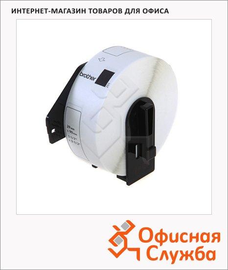 Картридж для принтера этикеток Brother DK-11201, 29мм х 90мм, белый с черными буквами