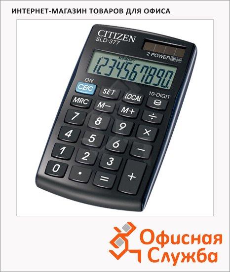 фото: Калькулятор карманный Citizen SLD-377 черный 10 разрядов