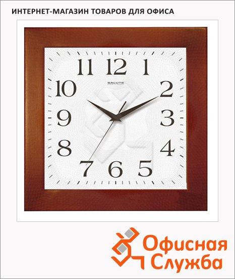Часы настенные Салют дерево, 31х31 см, квадратные, ДС-2АА28-010