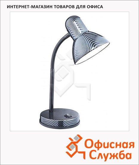 Светильник настольный Globo 24893 E27 серебристо-синий, на подставке, накаливания/энергосберегающая