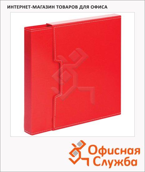 Папка файловая красная, А4, на 80 файлов