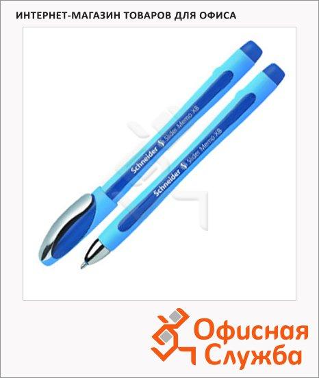 фото: Ручка шариковая Schneider Slider Memo XB синяя 0.8мм