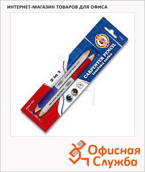 Карандаш столярный Koh-I-Noor Duo 1536 2B, 2шт, двусторонний