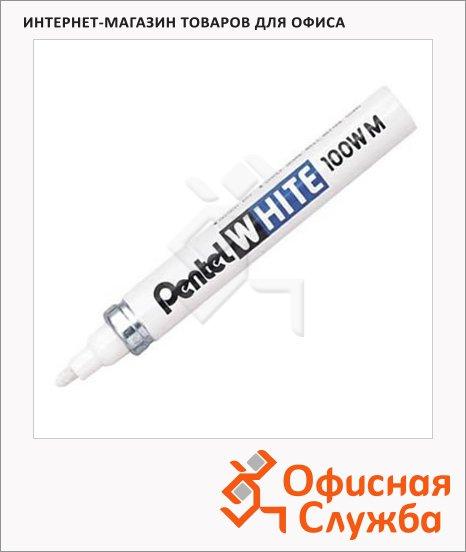 фото: Маркер промышленный Pentel X100W белый 6.5мм, круглый наконечник