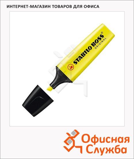 Текстовыделитель Stabilo Boss Original желтый, 2-5мм, скошенный наконечник