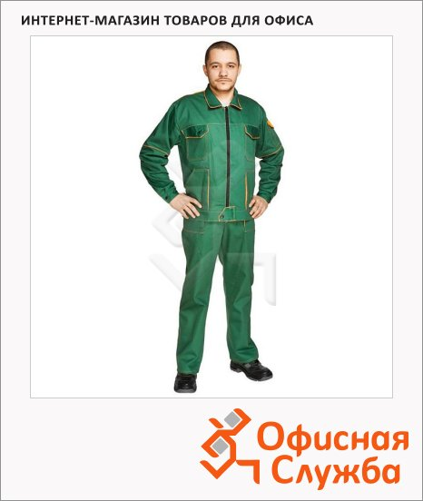 Костюм рабочий мужской Мастер (р.52-54) 170-176, темно-бирюзовый, брючный