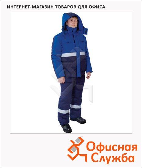 Костюм рабочий зимний Новатор (р.60-62) 182-188, сине-васильковый