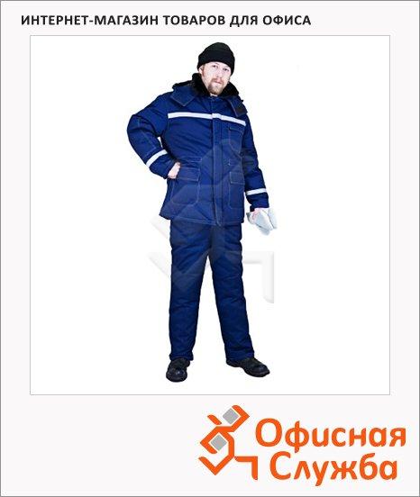 Костюм рабочий зимний Вектор (р.52-54) 182-188, темно-синий, с СОП