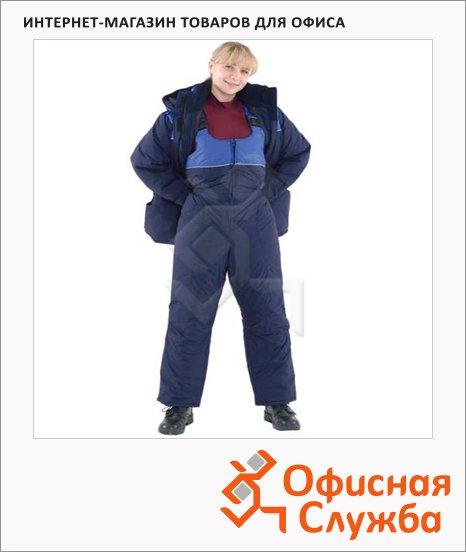 Костюм рабочий зимний женский Снежана (р.52-54) 158-164, сине-васильковый