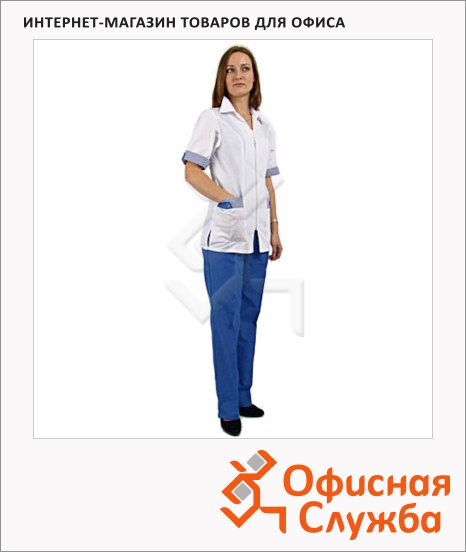 фото: Костюм женский Домино (р.52-54) 158-164 бело-синий