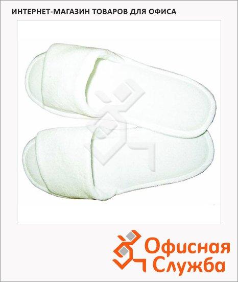 фото: Шлепанцы одноразовые махровые белые