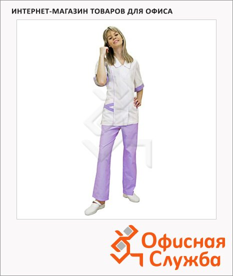 фото: Костюм женский Жасмин (р.48-50) 158-164 бело-фиолетовый