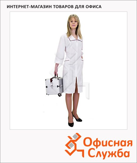 фото: Халат медицинский женский Натали (р.44-46) 158-164 белый