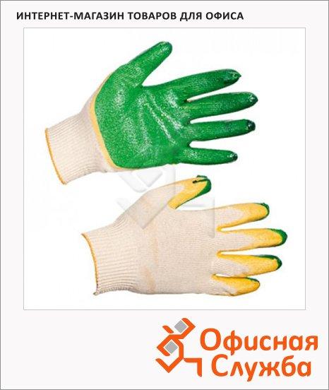 Перчатки трикотажные рабочие двойное латексное покрытие