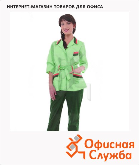 фото: Костюм женский Дарина (р.52-54) 170-176 зелено-салатовый