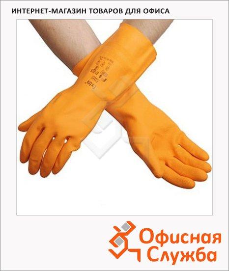 Перчатки защитные Ansell Экстра р.8.5-9, латекс, оранжевые, 87-950
