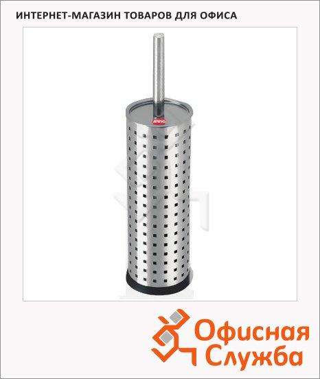 фото: Ершик для унитаза Премиум с подставкой металлический, 27см, d=9.5см