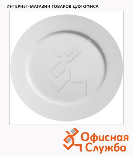 фото: Тарелка обеденная Wilmax белая d=25.5см