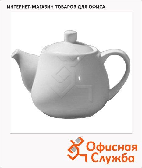 фото: Чайник заварочный Wilmax 1л белый, фарфор, WL-994003