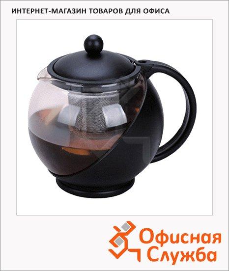 Заварочный чайник с фильтром Irit ассорти, 750мл, стекло/пластик, KTZ-075-003