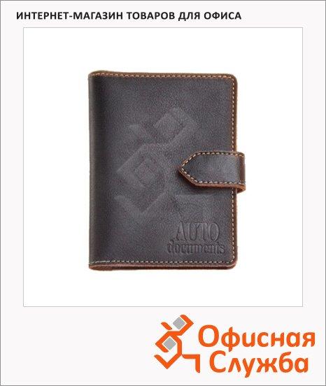 Бумажник водителя Fabula Техас черный, натуральная кожа