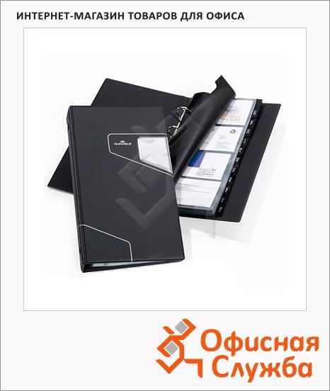 фото: Визитница Durable Visifix Pro на 200 визиток антрацит, разделитель A-Z