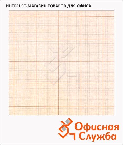 фото: Бумага миллиметровая 64см х 10м оранжевый