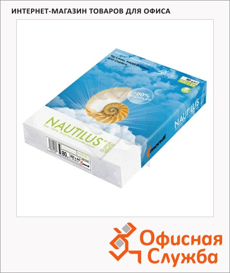 ������ ��� �������� Nautilus Super White Recycled A4, 500 ������, 80�/�2, ������� 150%CIE